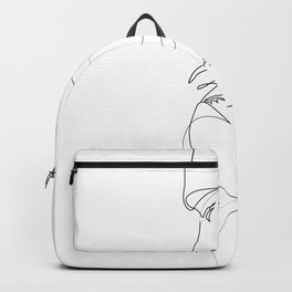 Lovers - Minimal Line Drawing Art Print 2 Backpack
