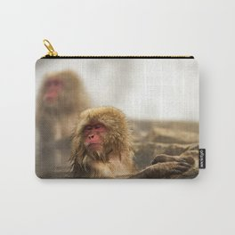 Snow Monkeys on Hot Spring Carry-All Pouch