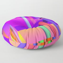 prism and refraction -1- Floor Pillow
