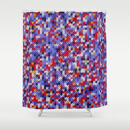 Knitted multicolor pattern 2 Shower Curtain