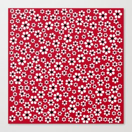 Dizzy Daisies - Red 2 - more colors Canvas Print