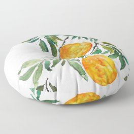 orange watercolor Floor Pillow