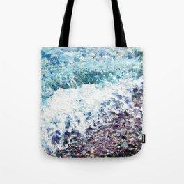 Waves lap at the shore - painting - art gift - abstract Tote Bag