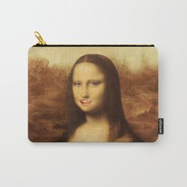 Mona Lisa Loves Valentine's Candy Carry-All Pouch