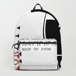 HAA-0092 Kitchen Art Bon Appetit 16x16 Backpack