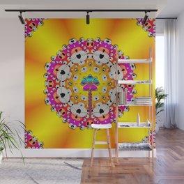 Fantasy flower in tones Wall Mural