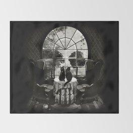 Room Skull B&W Throw Blanket