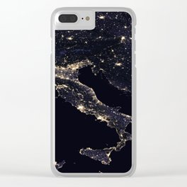Europe at Night Clear iPhone Case