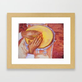 Hands of Mongo Santamaria Framed Art Print