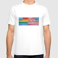 Flags for the Future 10 White Mens Fitted Tee SMALL