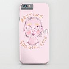 Resting Sad Girl Face Slim Case iPhone 6