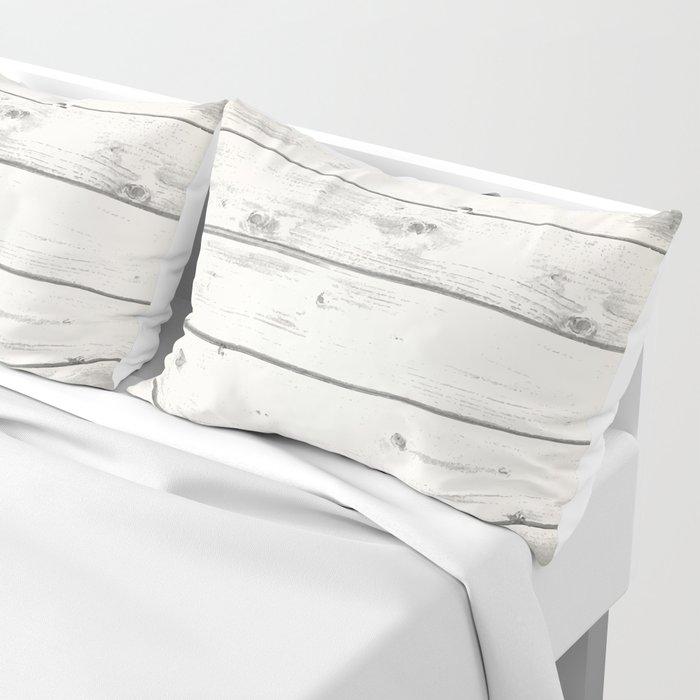 Light Natural Wood Texture Pillow Sham