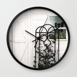 Face in the Window Wall Clock