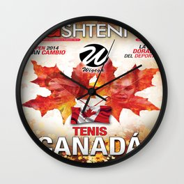 Flashtennis Magazine Cover of Tenis Canada Wall Clock