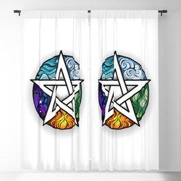 Bright Pentagram Blackout Curtain