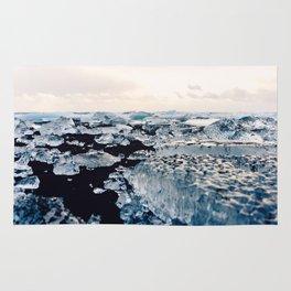 Ice Field on Diamond Beach, Iceland Rug