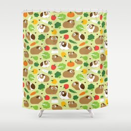 Guinea Pig And Its Treats Shower Curtain