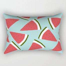 Trendy Watermelon Red and Mint Summer Design Rectangular Pillow
