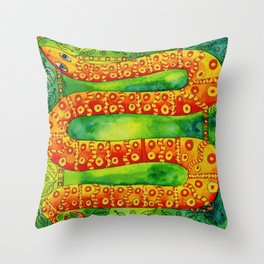 Patterned Snake Throw Pillow