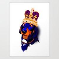 Wiener Dog King Art Print