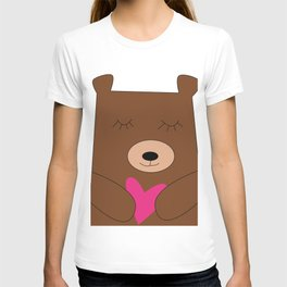 Bear in love pink T-shirt