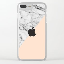 apple logo marble - whatever , I'm late anyways clock Clear iPhone Case