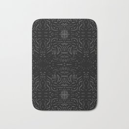 Black art Bath Mat