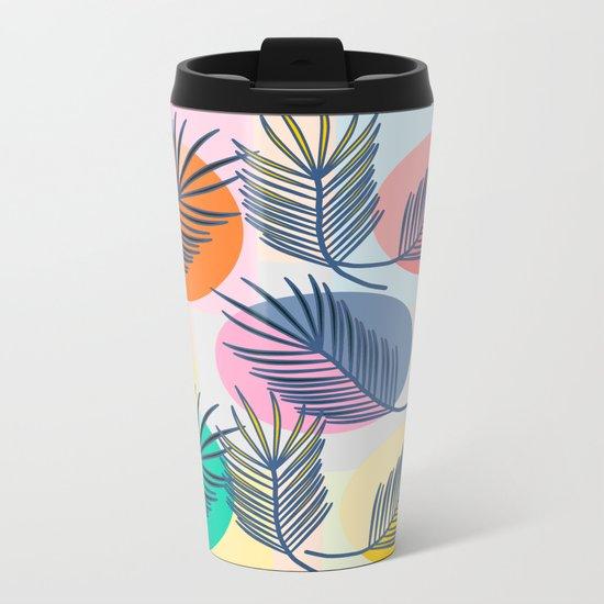 leaves palm Metal Travel Mug