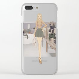 Stylized Signature Shopping Fashion Illustration A Clear iPhone Case