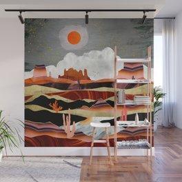 Coral Desert Lake Wall Mural