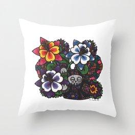 Fear & Trembling (Botanical Bliss) Throw Pillow