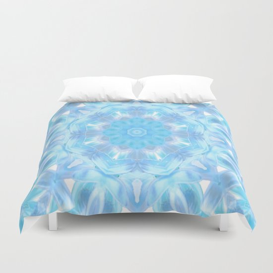 Soft Shades of Color Kaleidoscope Duvet Cover