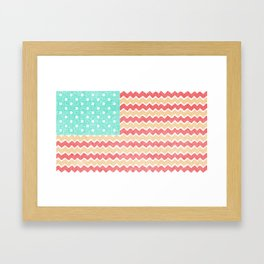 Zig Zag Flag. Framed Art Print