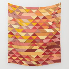 Triangle Pattern no.4 Warm Colors Red and Yellow Wall Tapestry