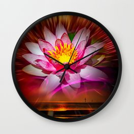 Wellness - Water Lily Wall Clock