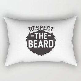Respect The Beard Rectangular Pillow
