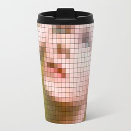 Bowie : Hunky Dory Pixel Album Cover Travel Mug