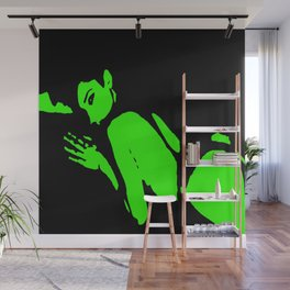 Seductive Look Green & Black Wall Mural