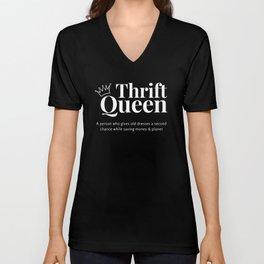 Thrift Queen ( Black&White ) Unisex V-Neck