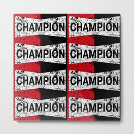 THE CHAMP RETRO Metal Print