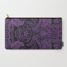 Paisley 3 Purple Carry-All Pouch