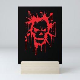 Bloody Skull   Heavy Metal Illustration Mini Art Print