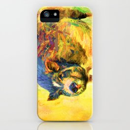 Jazzy Pig Colorful Animal Art by Jai Johnson iPhone Case