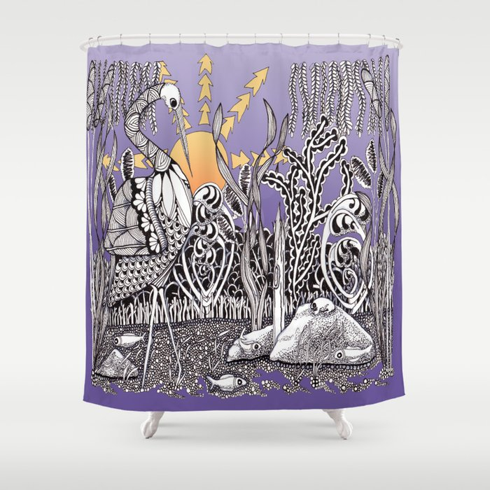 Zentangle Daylight in the Swamp Shower Curtain