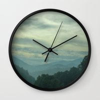 north carolina Wall Clocks featuring Carolina by Chuck Buckner