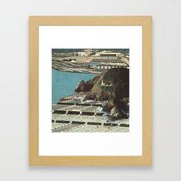 beached island Framed Art Print