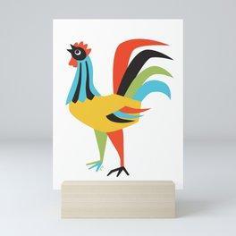 Colorful Rooster Kitchen Print Mini Art Print