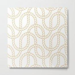 Marina Gold Metal Print