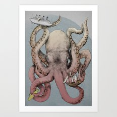 When Cephalopods Attack! Art Print
