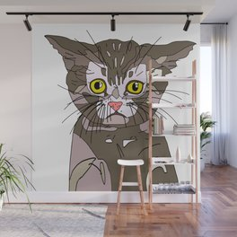 Maine Coon Kitty Wall Mural
